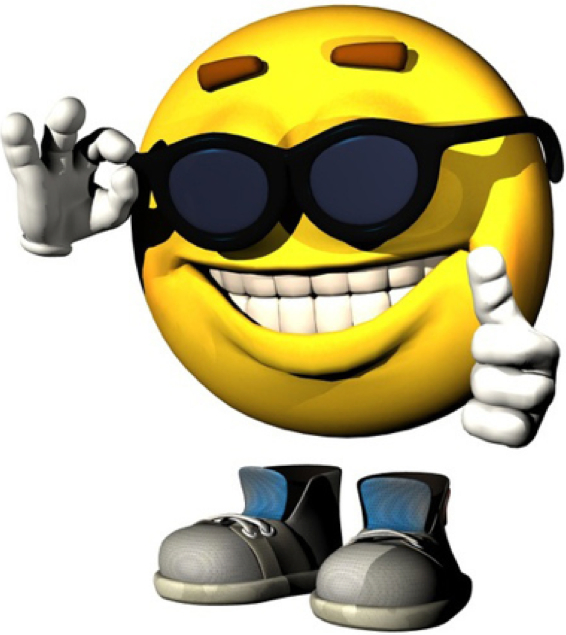 Smiley Face with Thumbs Up