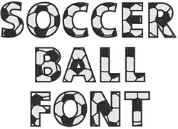 18 Soccer About Fonts Images - Football Letters Font, Football Fonts
