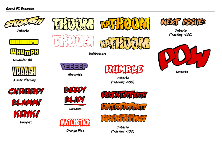Free Comic Book Lettering Fonts