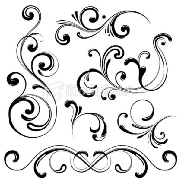 Swirl Design Elements Clip Art