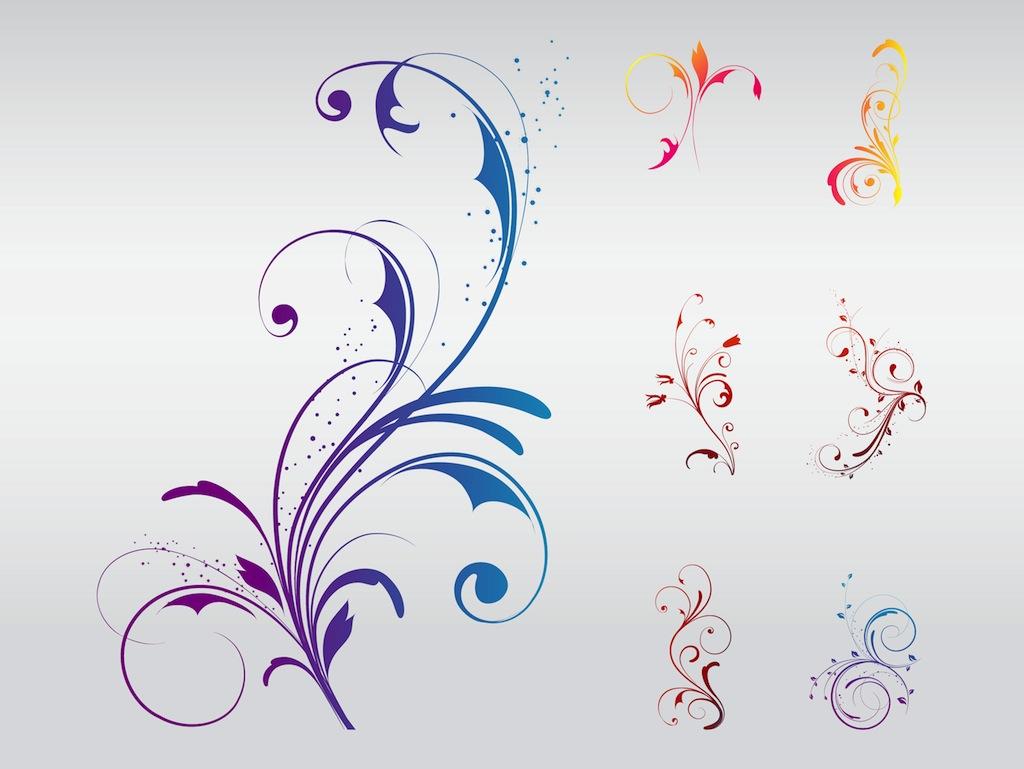 Swirly Flower Designs