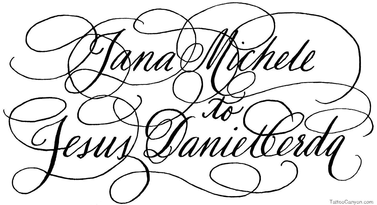 Tattoo Fonts Script Calligraphy Alphabet