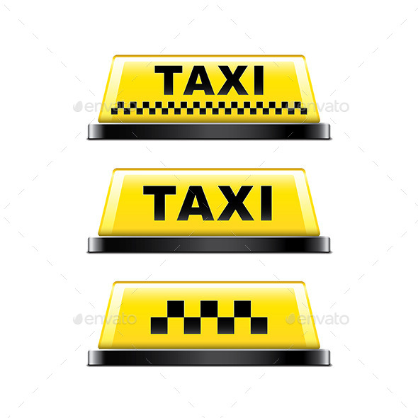 13 Taxi Sign PSD Images