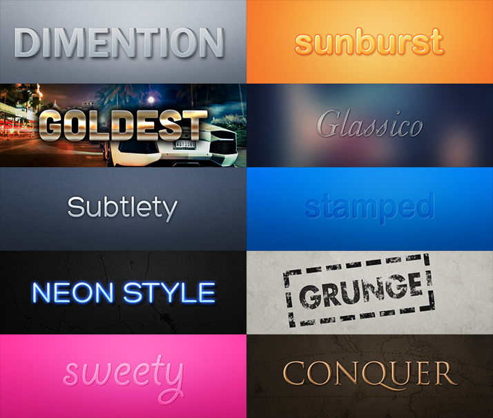 Text Photoshop Style Pack
