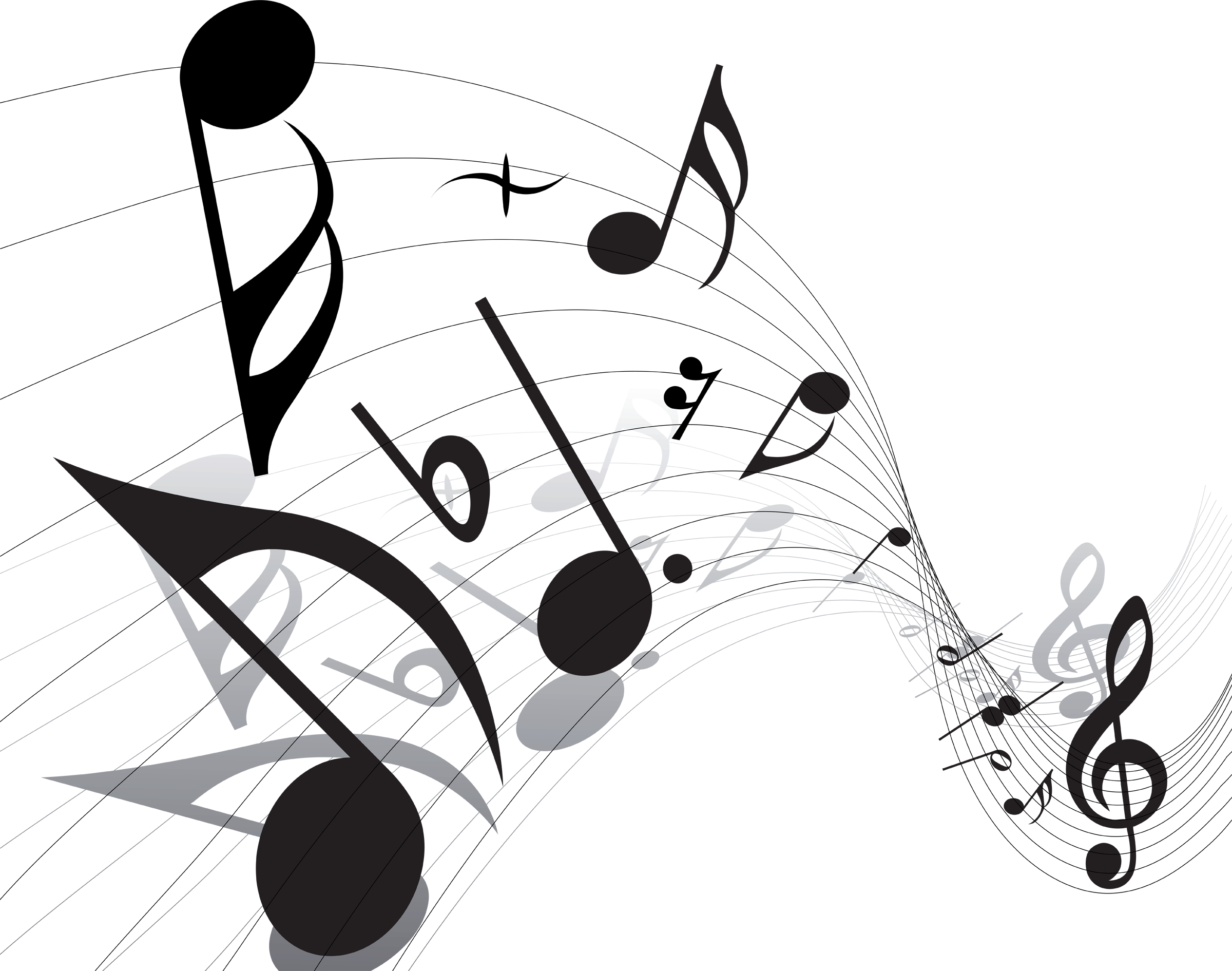 Transparent Music Notes Vector