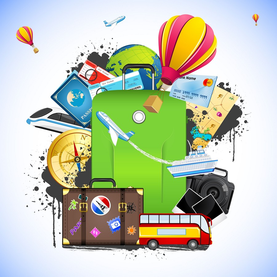 Travel Vector Graphics Design