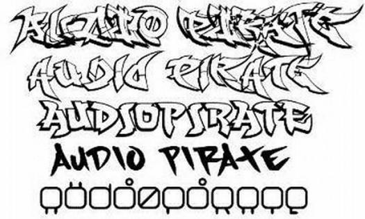 Unique Graffiti Fonts