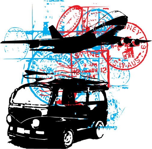 Vector Travel Stamp Clip Art