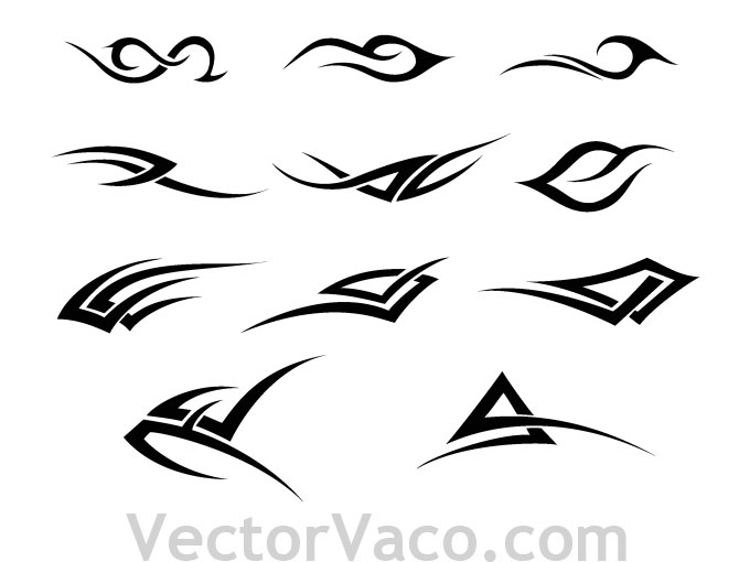 12 Free Vector Tribal Designs Images