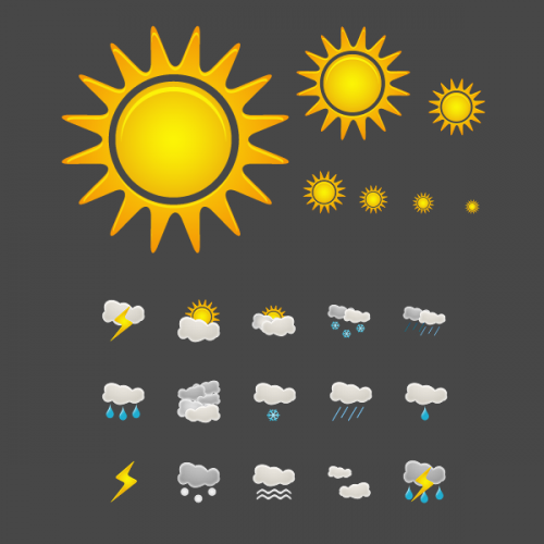 8 Beautiful Weather Icons Images