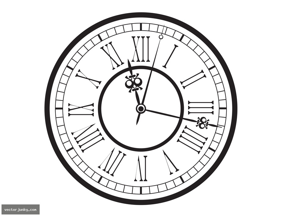 12 Antique Clock Vector Images