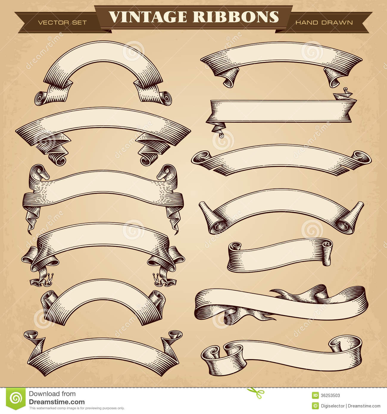 16 Photos of Vintage Banner Vector