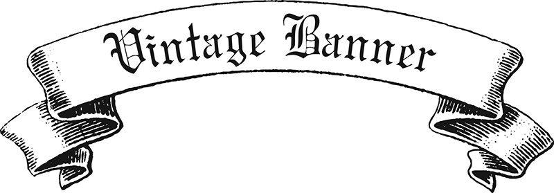 Vintage Ribbon Banner Vector