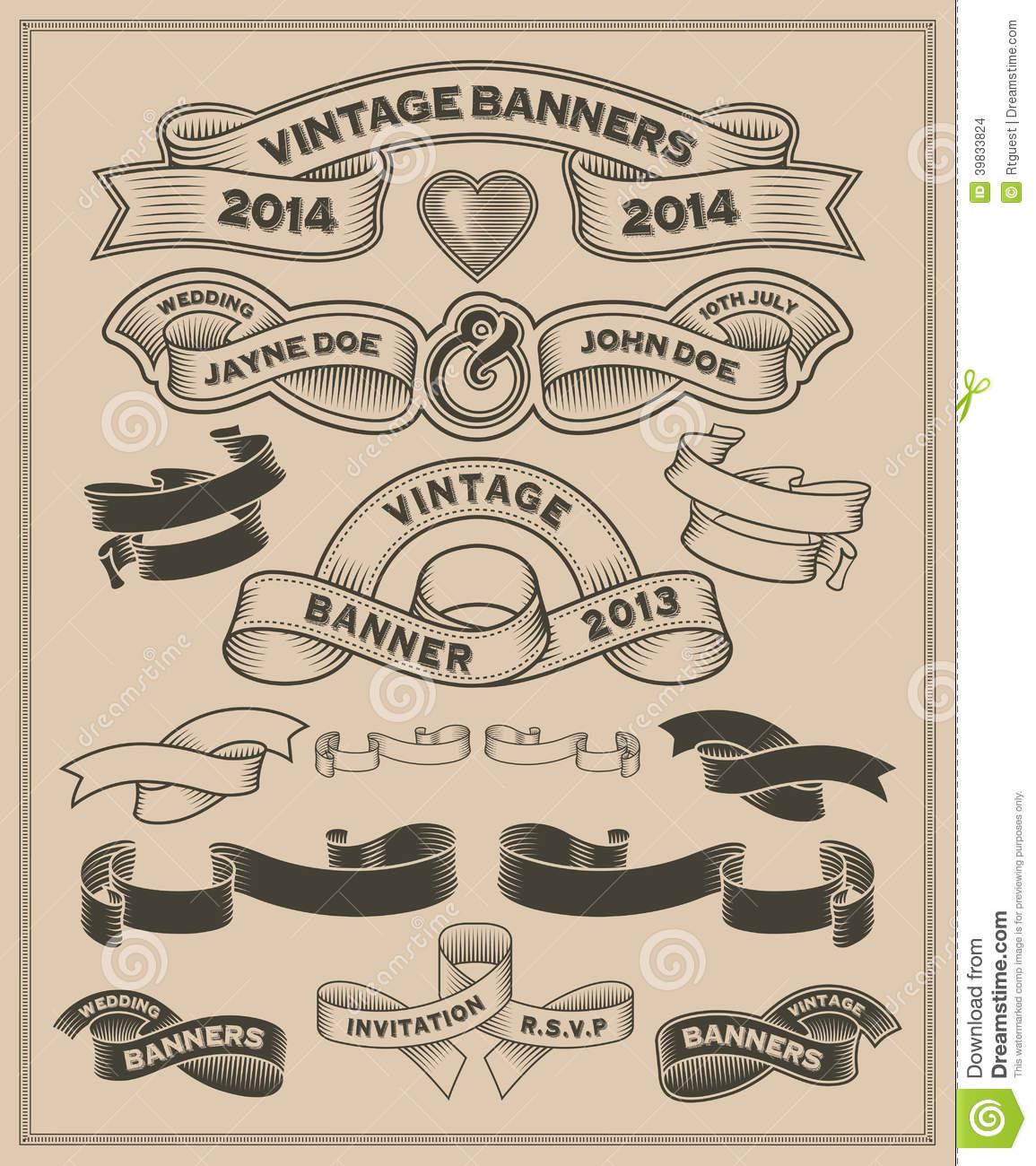 Vintage Scroll Banner Vector