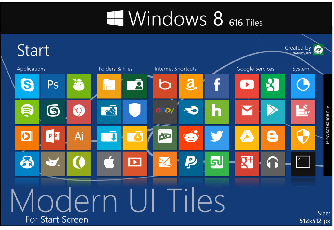 Windows 8 Tile Icons