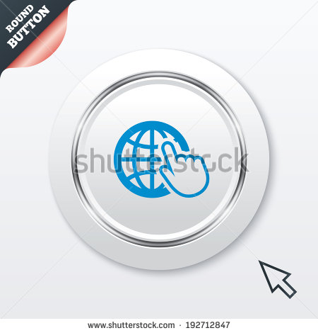 World Wide Web Icon Vector White