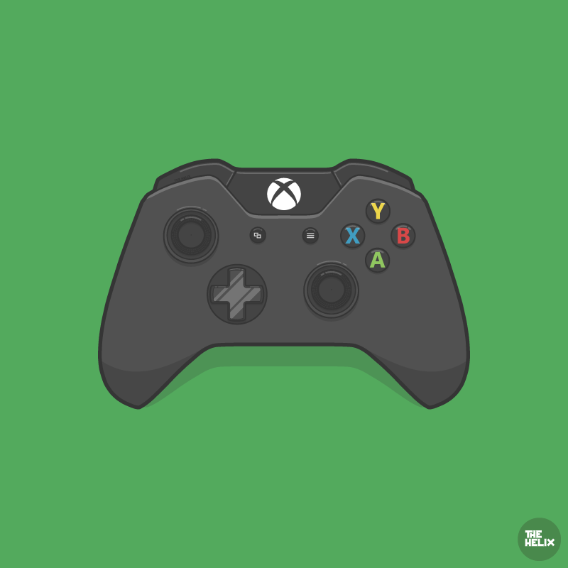 Vector Drawing Lines Xbox One : Xbox controller vector images