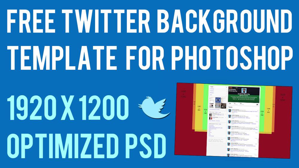 2014 Twitter Header Template PSD
