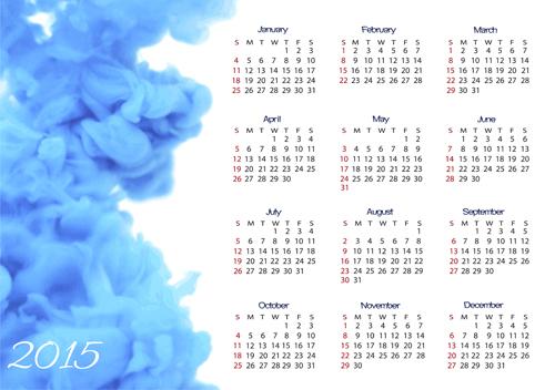 2015 Calendar Vector Design