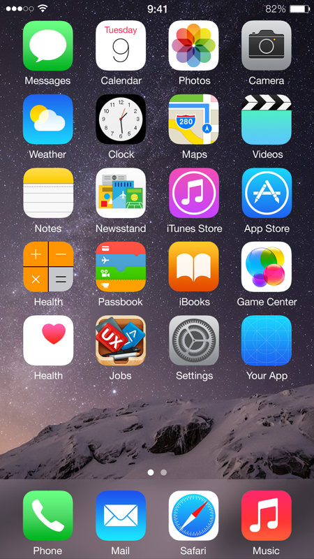 14 Home Screen Icon Iphone App Mockup Images Iphone Mockup App Icon Iphone Home Screen Ios 7