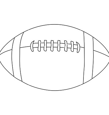 football cutout template - 12 free vector football outline images american football