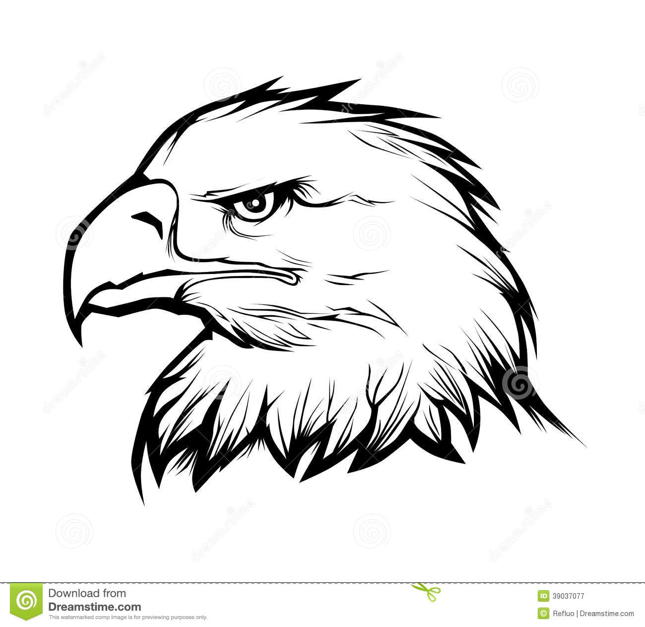 16 Eagle Head Vector Images - Black and White Eagle Head ...