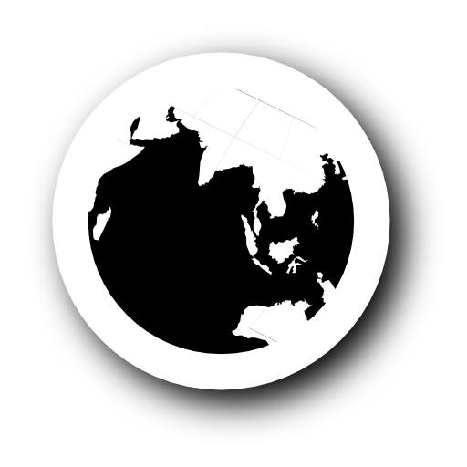 11 Black And White Globe PSD Images