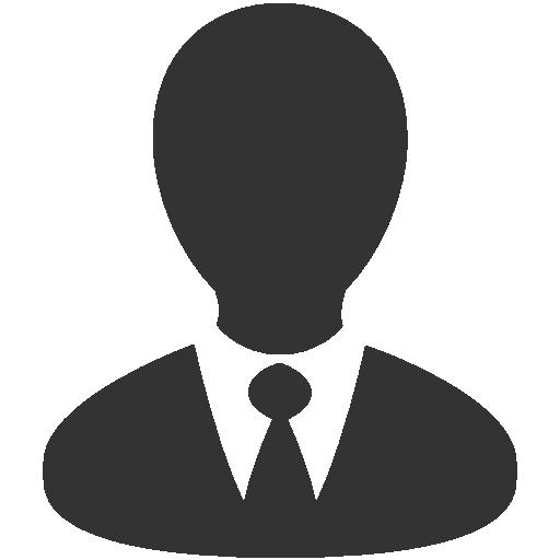 Black Business Man Icon
