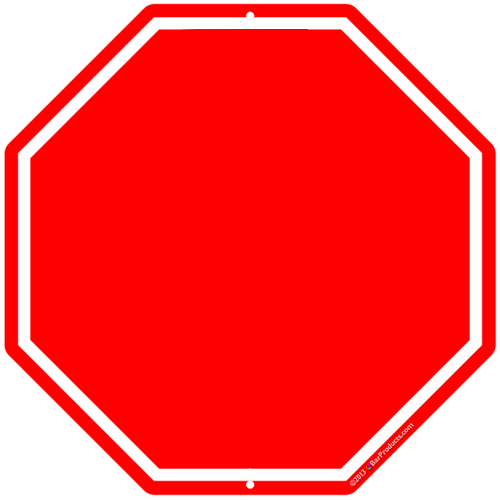 5 Stop Sign Template Customizable Images