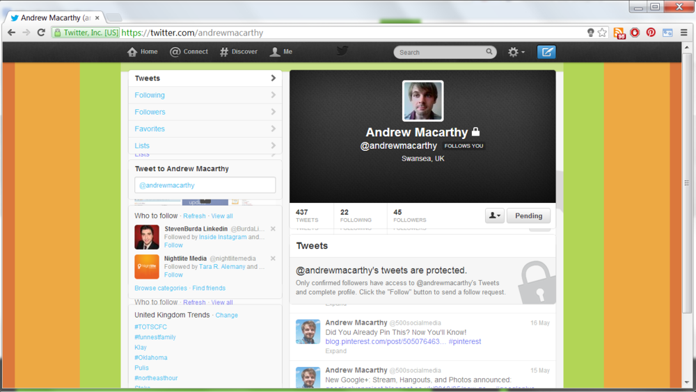 Blank Twitter Profile Template