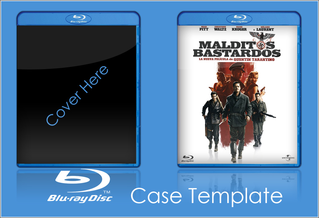 13 Blu-ray Case Insert Template PSD Images