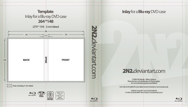 Blu-ray Case Template