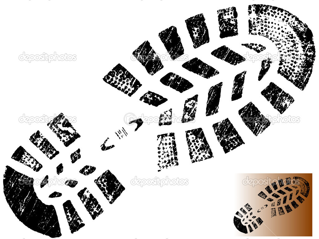 11 Boot Print Vector Images