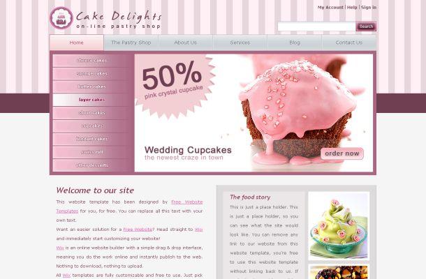 Cake Design Templates Free