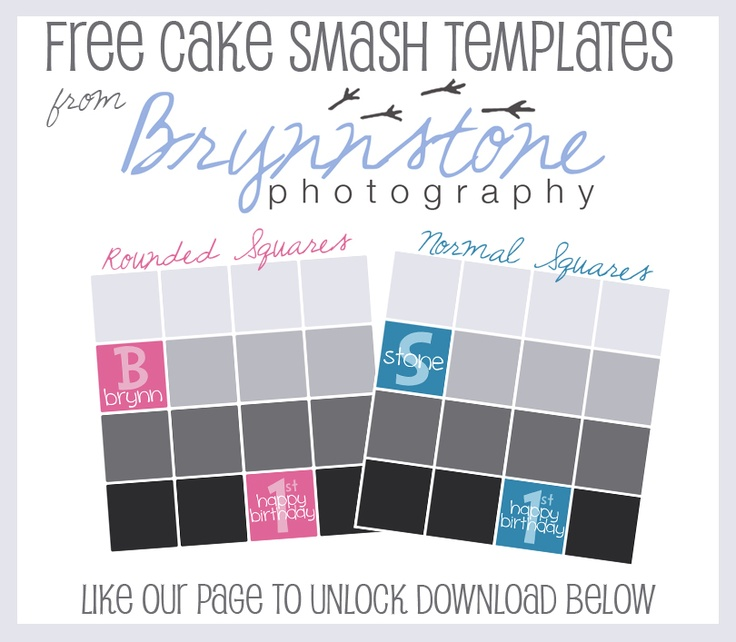 Cake Smash Photoshop Templates Free