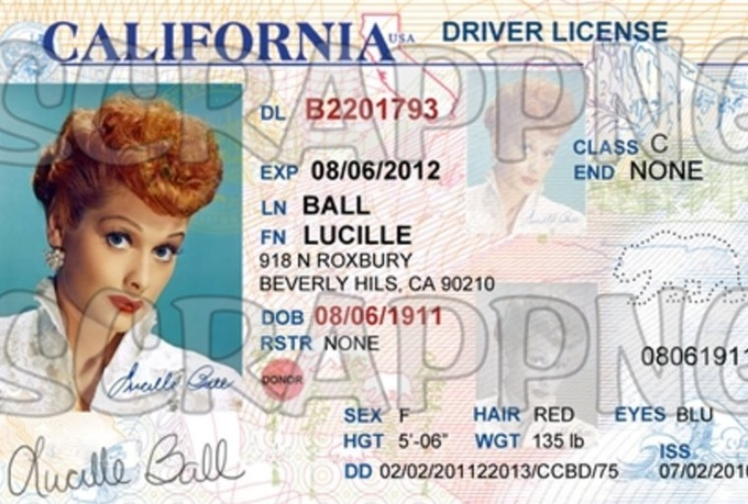 California Drivers License Blank Templates