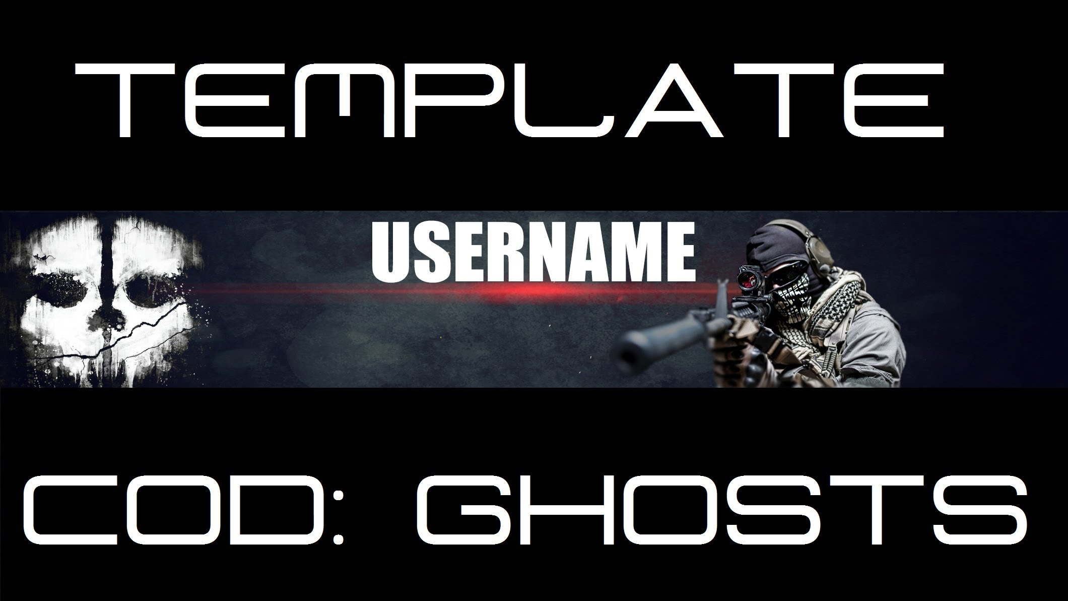 Call of Duty YouTube Banner Template