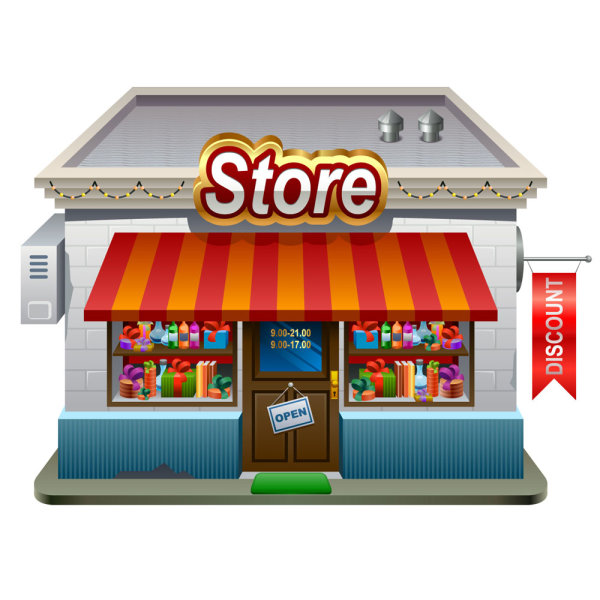16 Vector Cartoon Store Images