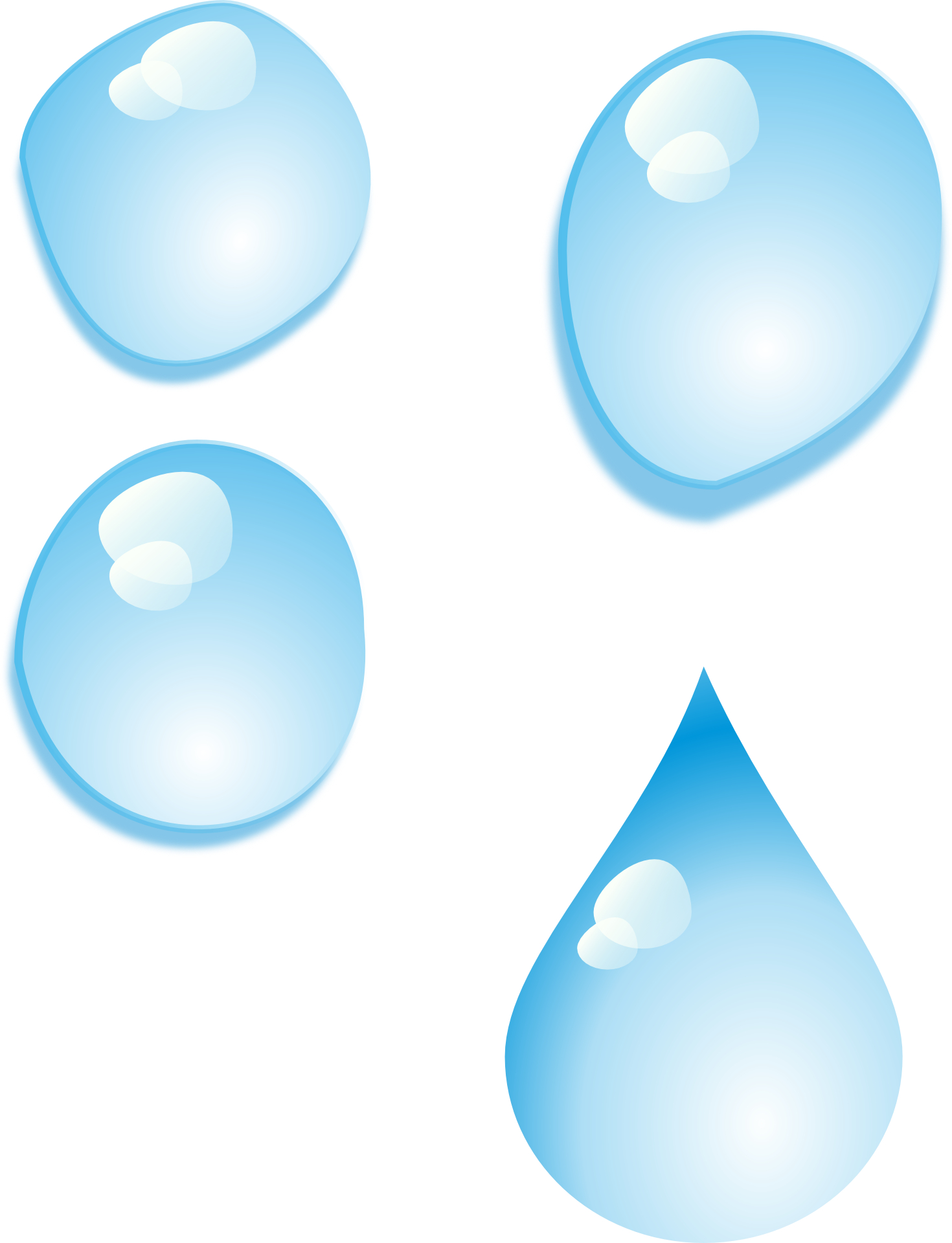 Cartoon Water Drop Clip Art