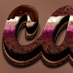 Chocolate Text Effect Photoshop Tutorial