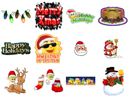 Christmas Emoticons Free