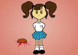 Creepy Little Girl Clip Art