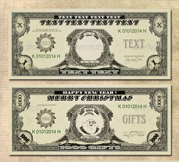 15 Money Psd Template Images - Dollar Bill Template Photoshop, 100
