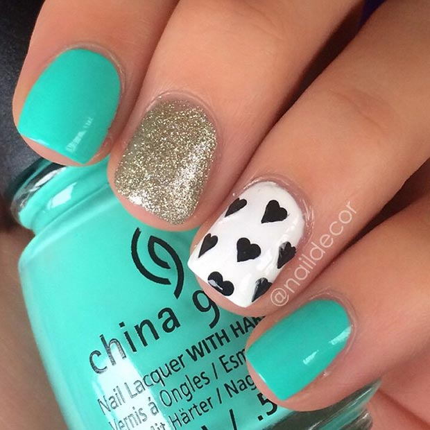 Cute Nail Design Turquoise