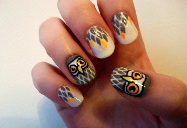 Cute Owl Nail Designs