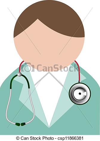 Doctor with Stethoscope Clip Art