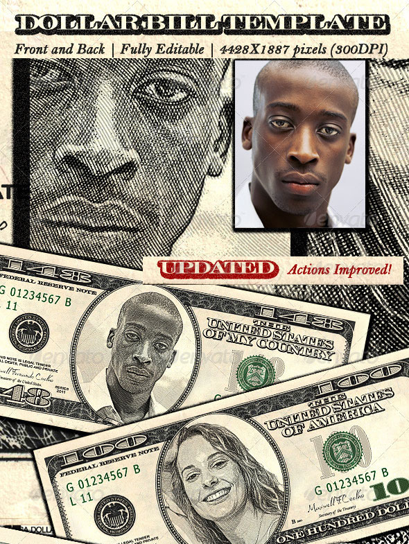 Dollar Bill Template Photoshop