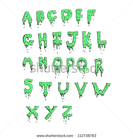Dripping Slime Letters