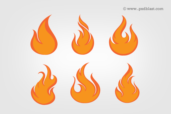 Fire Flames Icon Set