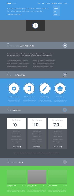 Flat Web Design Templates Free